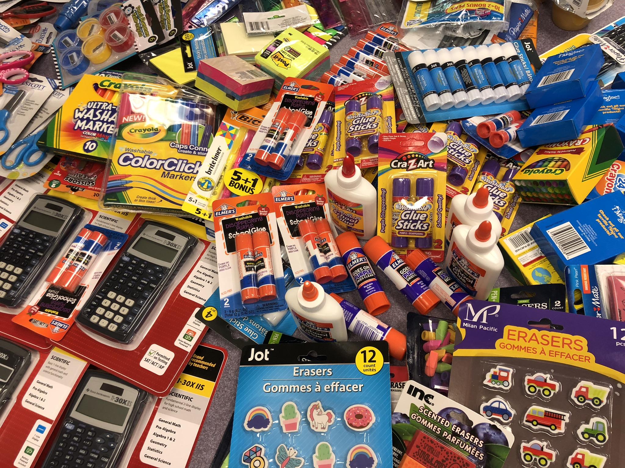 DNP Employees Collect School Supplies - DNP Ribbons